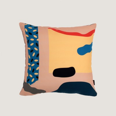 Cut outs beige cushion covers