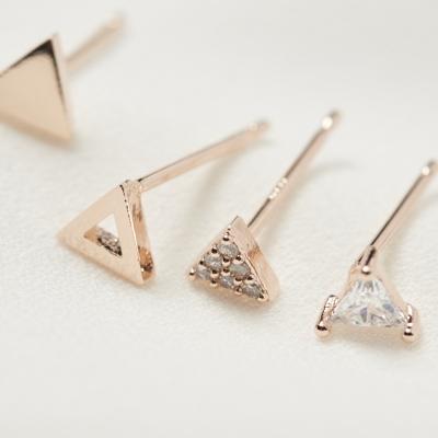 삼각 큐빅 4set 귀걸이