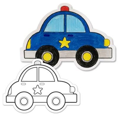 [아티바바] 경찰차 색칠보드/색칠 공부 칼라링북_(932648)