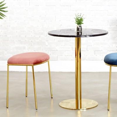 대리석 골드프레임 원형테이블 600 2인용식탁 카페티테이블