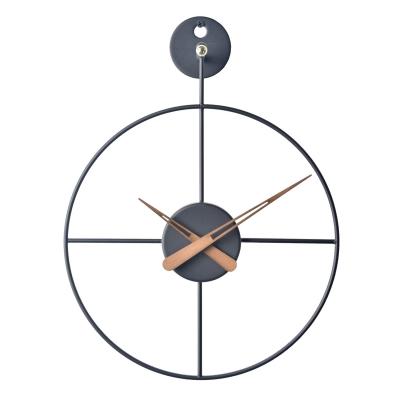와이어벽시계/미니/BK