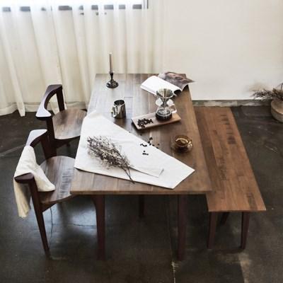 마이 시그니처 런더너 원목 테이블 4인 벤치세트(빈티지_(12633696)