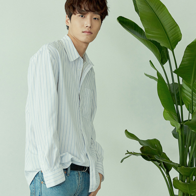 [아르테노] Minimal stripe shirt-WHITE