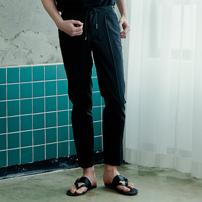 [아르테노] String point slacks-BLACK
