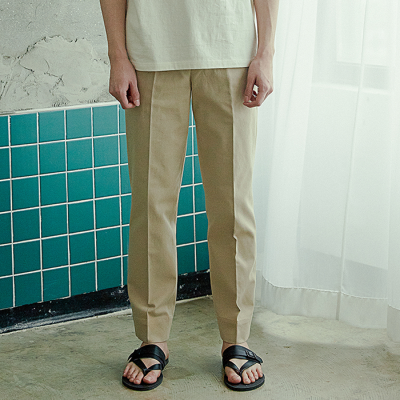 [아르테노] Straight cotton pants-L/BEIGE