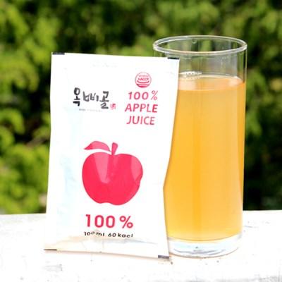 [옥삐골] 사과가 통째로 들어간 국내산100% 사과즙 100ml*20포