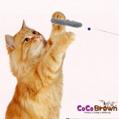 미요미 천연밍크 버들 고양이 낚시대/색상랜덤 고양이 장난감
