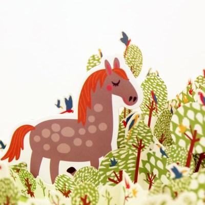쥬에 트랑트 농장동물/자석 교구 퍼즐 칠판 유아