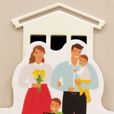 쥬에 트랑트 가족/자석 교구 퍼즐 칠판 유아