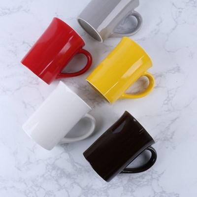 무지 일자 카페 머그컵 6color 1p