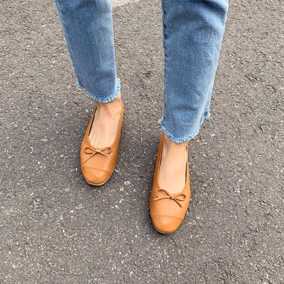 Stitch ribbon flat shoes_M (size : 230,235,240,245,2_(1241596)
