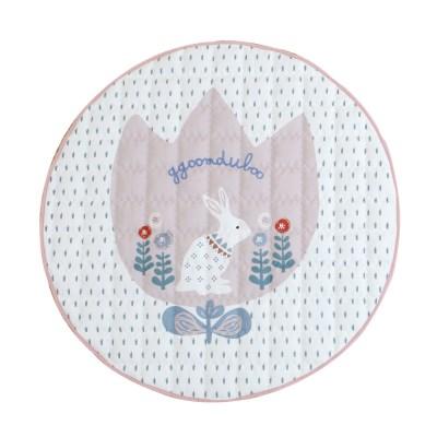 꿈두부 토끼 디자인 아이방 인테리어 빅래빗 핑크 원형 유아러그