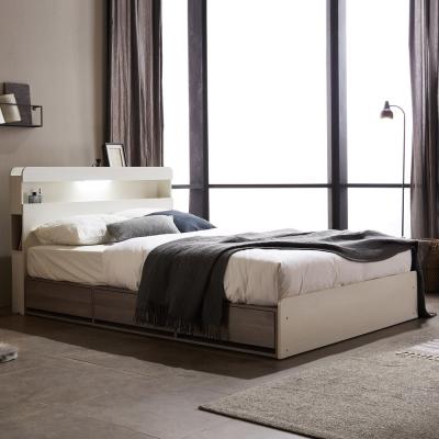홈잡스 브라이트 LED콘센트 수납형 서랍형 평상 침대