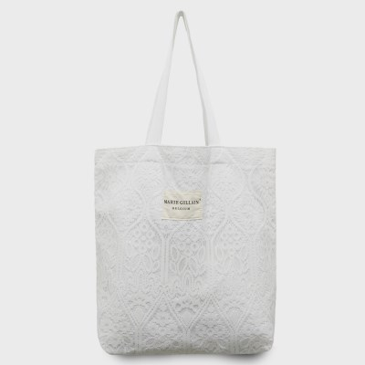 Leuven(루벤) lace ECO BAG WHITE