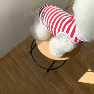 [T.탐스스트라이프민소매]Toms stripe sleeveless T_Red