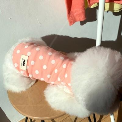[T.솜사탕도트민소매]Cottoncandy dot sleeveless T_Pink