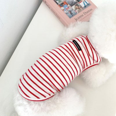 [T.세인스트라이프민소매]Sain stripe sleeveless T