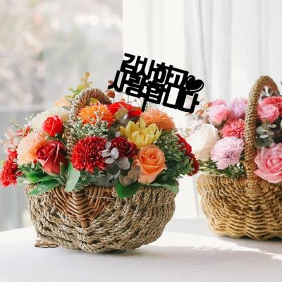 [메세지픽증정] 라쥴리 카네이션 비누꽃 바구니