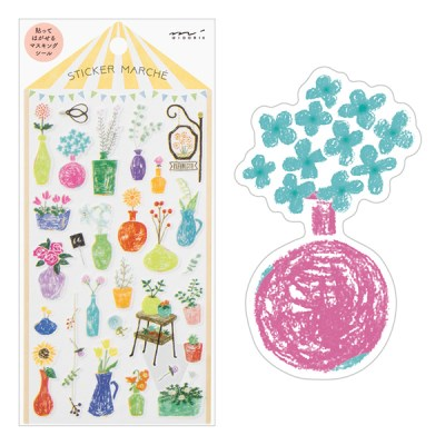 Sticker Marche - Flower vase