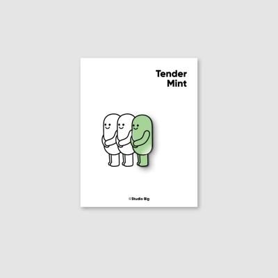 [핀뱃지] 스튜디오빅 다정한 민트(Tender Mint) 뱃지
