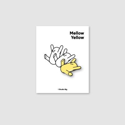[핀뱃지] 스튜디오빅 멜로우 옐로우(Mellow Yellow) 뱃지