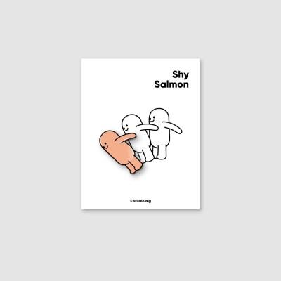 [핀뱃지] 스튜디오빅 수줍은 샐몬(Shy Salmon) 뱃지