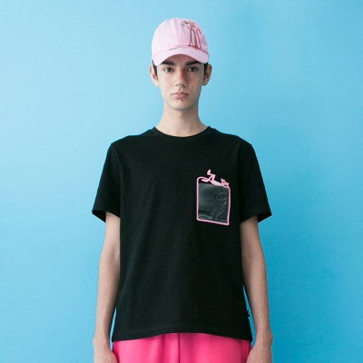 [SS19 Pink Panther] PP Clear Pocket T-Shirts(Black)_(673240)