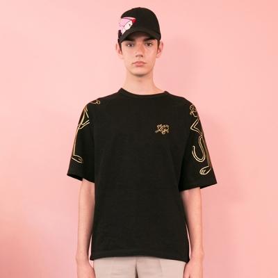 [SS19 Pink Panther] PP Raglan T-Shirts(Black)_(673237)