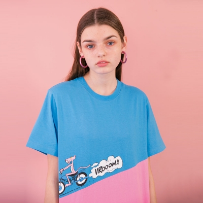 [SS19 Pink Panther] PP Run T-Shirts(Blue)_(673236)