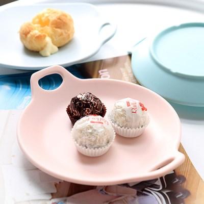 [멜라민웨어] 원형 핸들앞접시-예쁜그릇 캠핑식기 유아식기