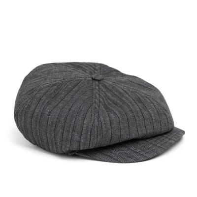 HBT STRIPE NEWSBOY CAP (grey)