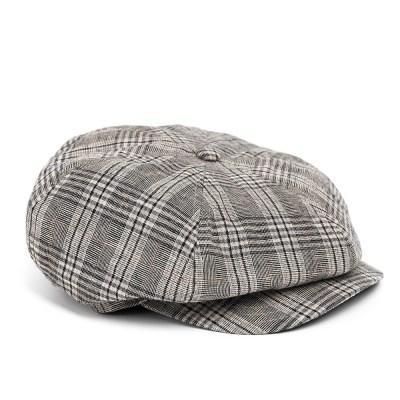 BPG CHECK NEWSBOY CAP (grey)