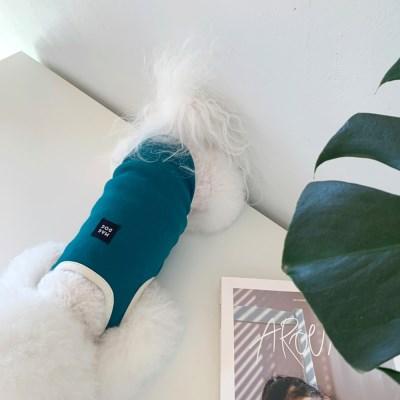 [T.배색러닝민소매]Running color sleeveless T_Bluegreen