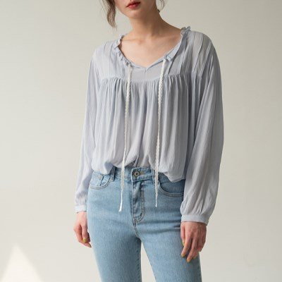 rayon shirring blouse_(1163979)
