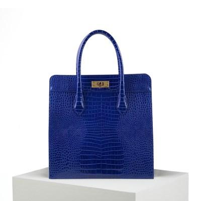 Croc Box Bag_Blue