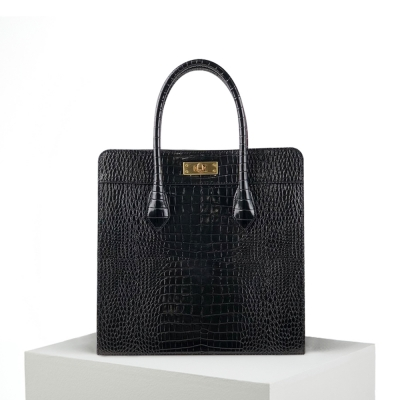 Croc Box Bag_Black