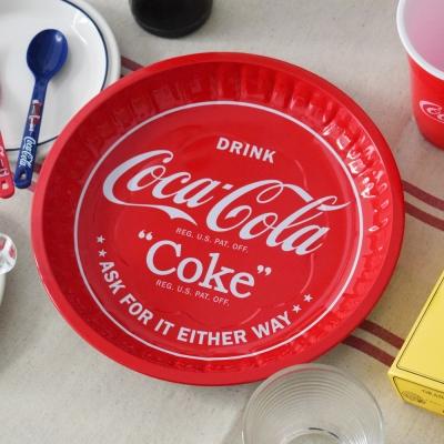 코카 콜라 양철 원형 쟁반 / 틴 트레이 1p