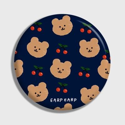 [어프어프] 손거울 Dot cherry bear-navy