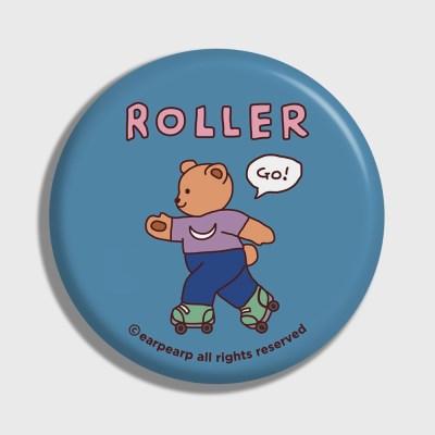 [어프어프] 손거울 Roller bear-indigo blue