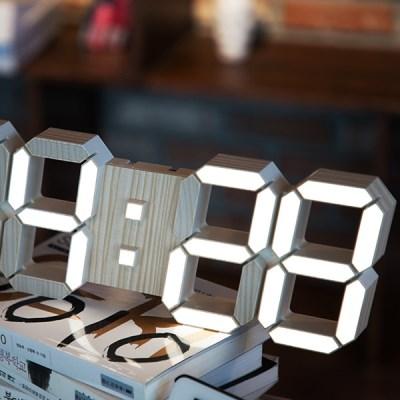 LED 스마트 우드벽시계