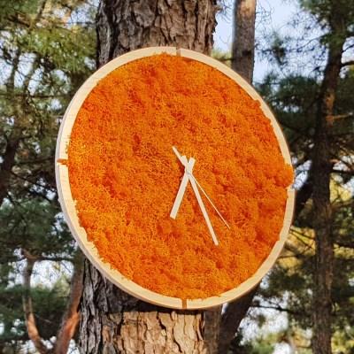 [숲앤숨]  원목 모스 벽시계(30cm)-어텀