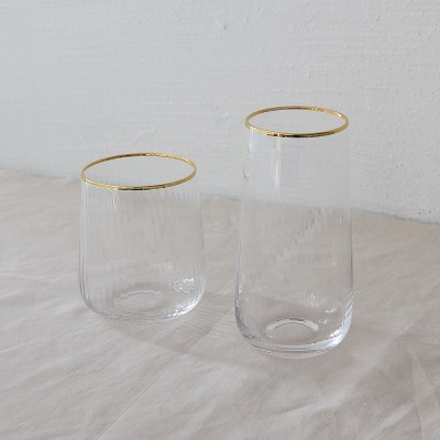 gold series - water drop glass (2size)