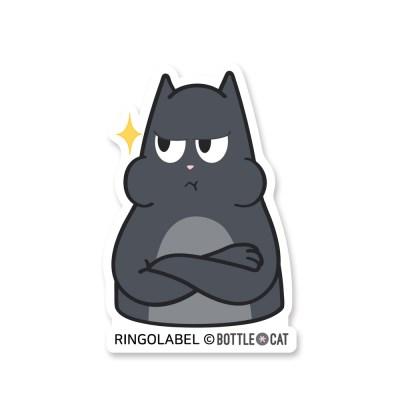 링고라벨-보틀캣 바트삐짐 캐리어스티커 노트북스티커