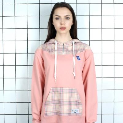 [TOi] TOKYO 체크 포인트 후드 핑크