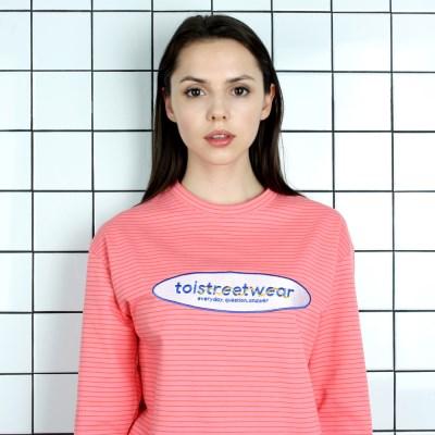 [TOi] TSW 로고 긴팔 티셔츠 핑크