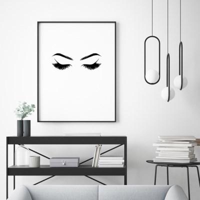 속눈썹 패션 포스터 인테리어 그림 액자
