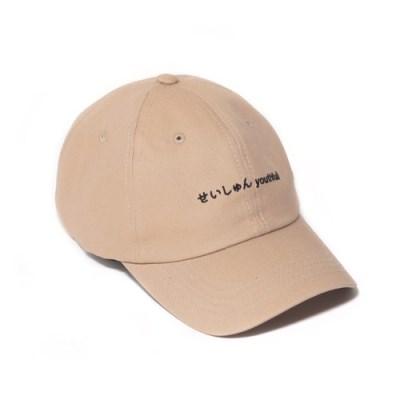 2019 SEISHUNE CURVED CAP-BEIGE