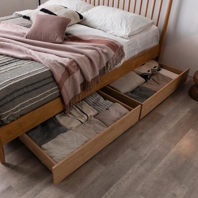 잉글랜더 원목 패턴 이동식 서랍 2EA(침대 구매시 배송가능)