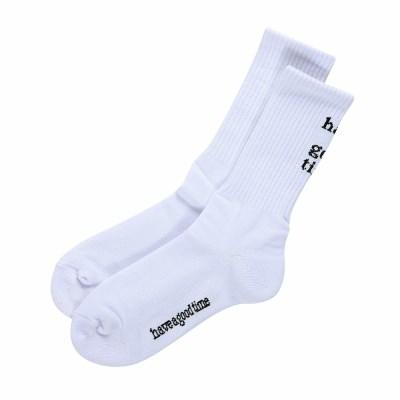 Back Logo Frame Socks_WHITE