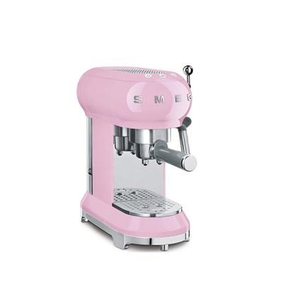 반자동 커피머신 핑크  ECF01PK